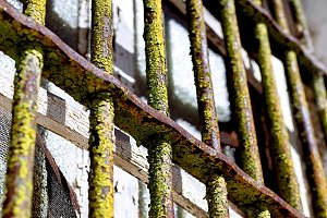 Old rusty grating, Mertola, Portugal