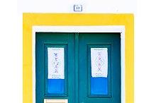 Colorful wooden door,Portugal