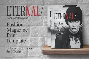Fashion Magazine Print Template