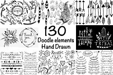 Hand drawn Ink Big Set