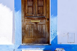 Colorful house, Mértola, Portugal