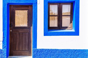 Blue and white house, Portugal