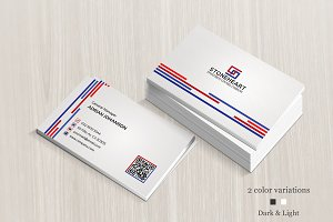 Dark & Light Corporate Business Card
