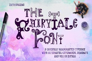 Fairy Tale Font with Extras