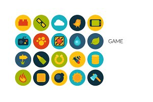 Flat icons set - Game