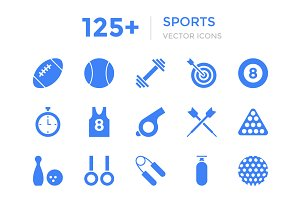 125+ Sports Vector Icons