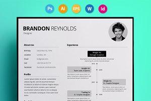 "Resume / CV - ""Reynolds"""