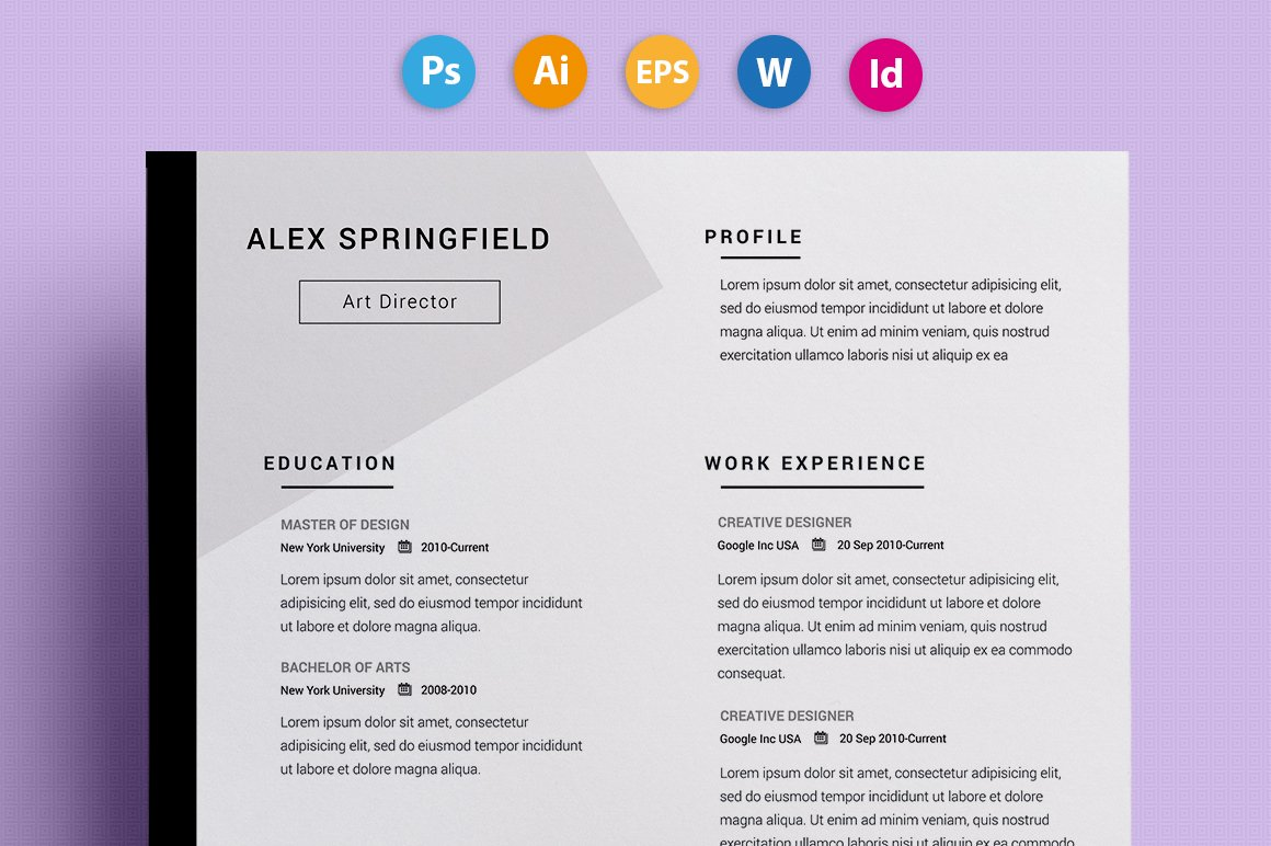 resume cv springfield - Interesting Resume Templates