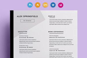 """Resume / CV - """"Springfield"""""""