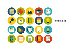Flat icons set - Business