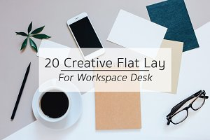 20 Creative Flat Lay Workspace Desk