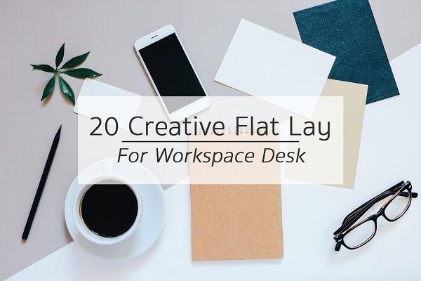 20 Creative Flat Lay Workspace Desk
