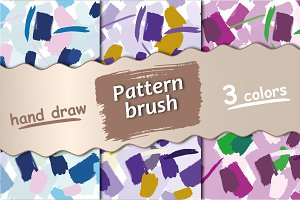 Seamless pattern with brush