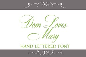 Dom Loves Mary Font