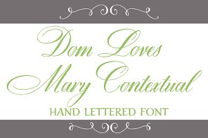Dom Loves Mary Contextual Font