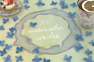 Watercolor circles PNG