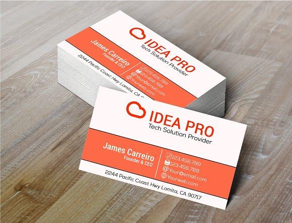 Idea Pro Business Card Business Card Templates Creative Market