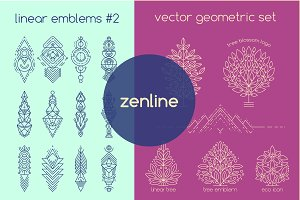 Zenline Set: Vector Linear Emblems#2