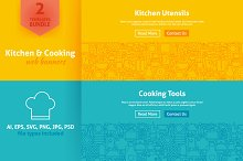 Kitchen & Cooking Line Web Banners