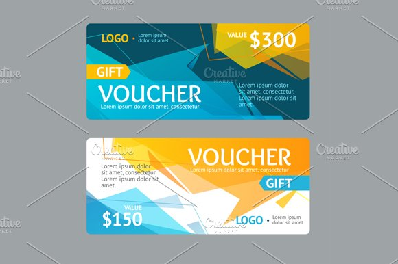 Gift Voucher Template. Vector - Illustrations