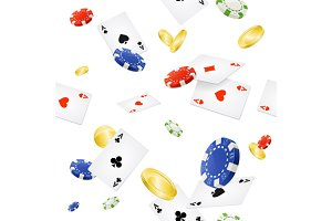 Casino Background Seamless. Vector