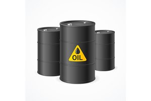 Oil Barrel Drums. Vector