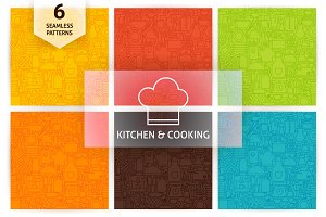 Kitchen & Cooking Line Tile Patterns