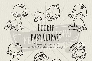 Doodle Baby clipart