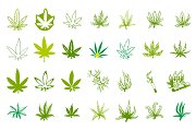 Medical marijuana icon set