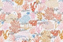 Coral Reef Seamless Pattern