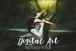 Digital Art - Photoshop Action