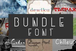 Bundle Fonts 9 in 1