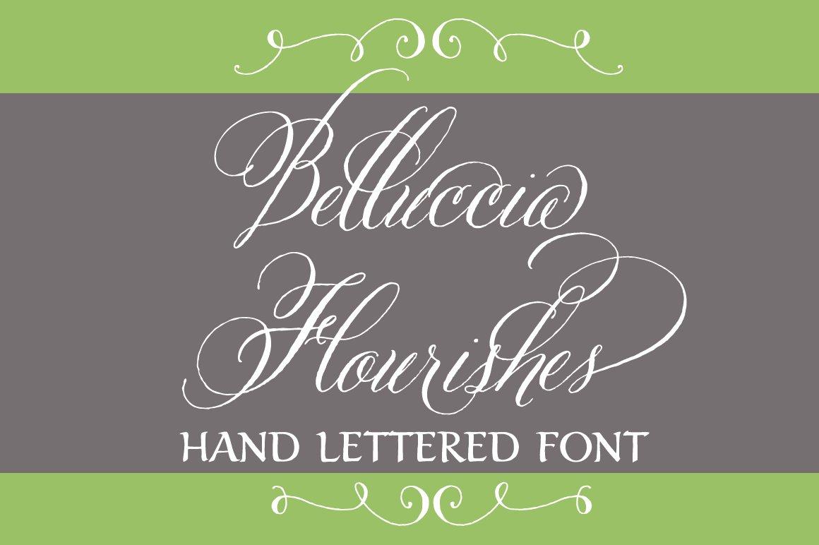 Belluccia Hand Drawn Flourishes Script Fonts On Creative