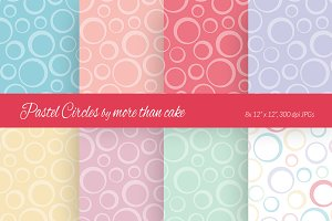 Pastel Circles Digital Paper
