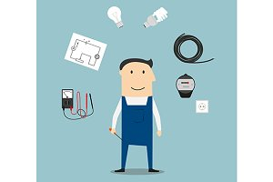 Electrician profession concept