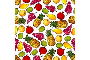Fresh fruits pattern