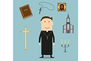 Priest and religion icons