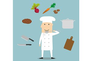 Chef profession concept