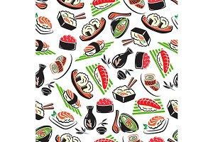 Japanese seafood cuisine pattern