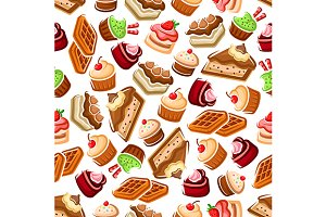 Sweet bakery and pastry pattern