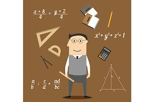Mathematician profession concept