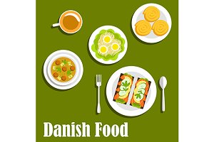 Tasty danish cuisine