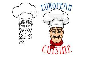 European chef in cook hat