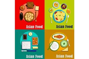 Indian thai korean chinese cuisine