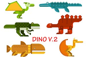 Dinosaurs icons