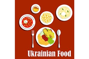 Nutritious ukrainian dishes