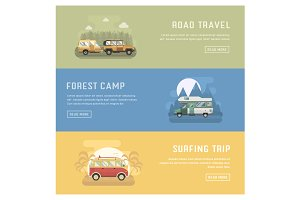 Summer Auto Travel Banners