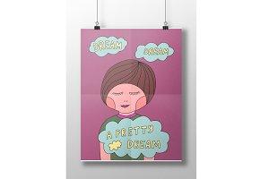 Dream poster in vector