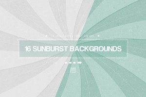 16 Sunburst Backgrounds