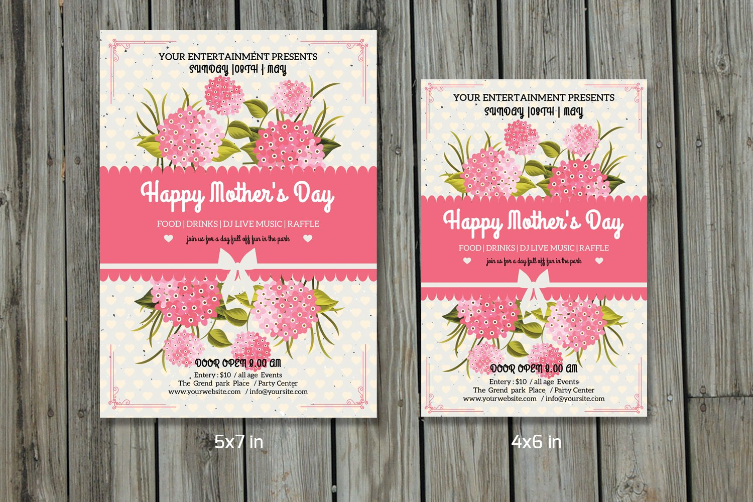 Mothers Day Flyer TemplateV257 Flyer Templates Creative Market – Mothers Day Flyer